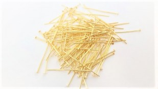 100 grams of 30mm x 0.8mm (approx. 720 pins) Brass Pins