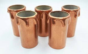 Copper Candle Tubes Drip Card 55mm x 26mm