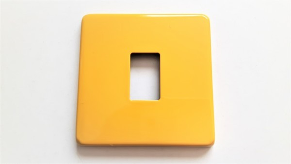 Light Switch Cover Plate Conversion In Yellow